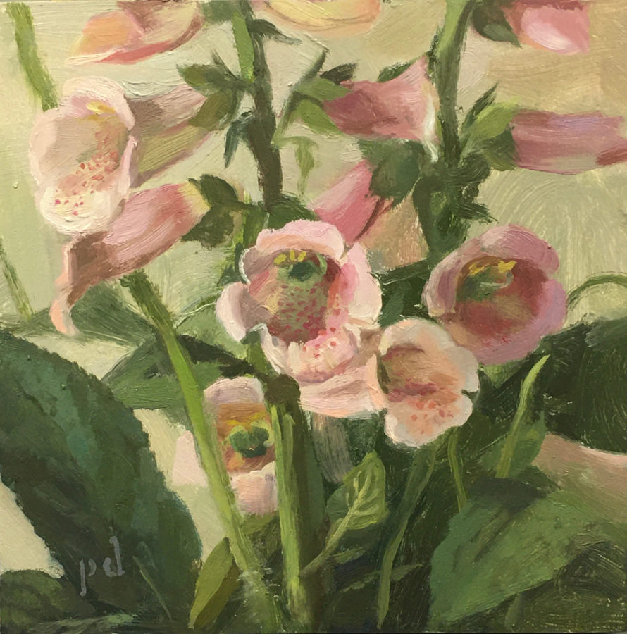 The Foxglove's Door Oil Painting Copyright 2021 By Peter Dickison