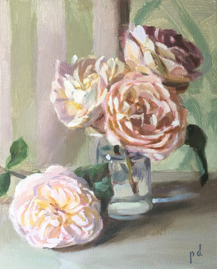 Languorous Life Of Roses Oil Painting Copyright 2021 By Peter Dickison