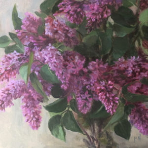 Upon a Lilac Sea oil painting copyright 2021 by Peter Dickison
